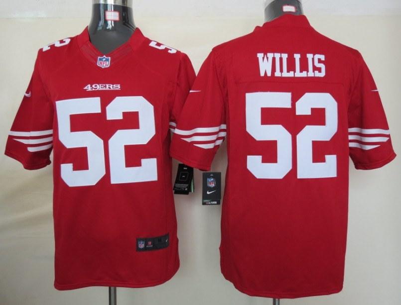 San Francisco 49ers 52 Willis Red nike Limited Jersey