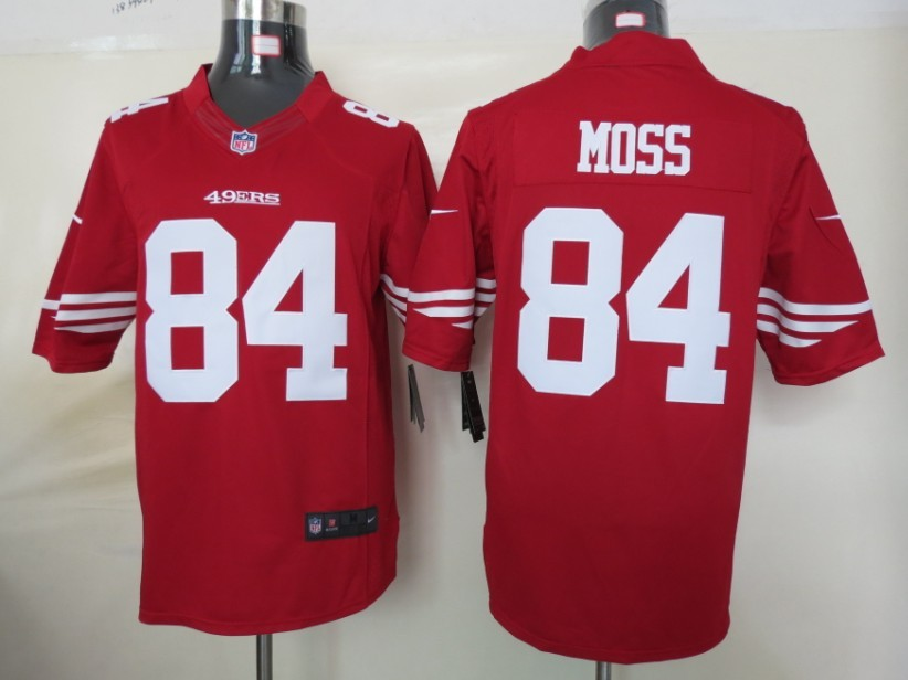 San Francisco 49ers 84 Moss Red nike Limited Jersey