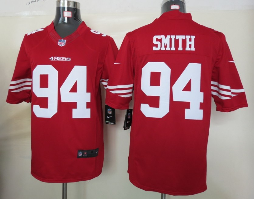 San Francisco 49ers 94 Smith Red nike Limited Jersey