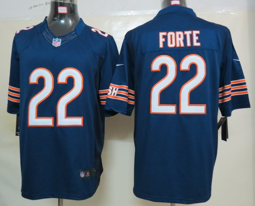 Nike Chicago Bears 22 Forte Blue Limited Jerseys