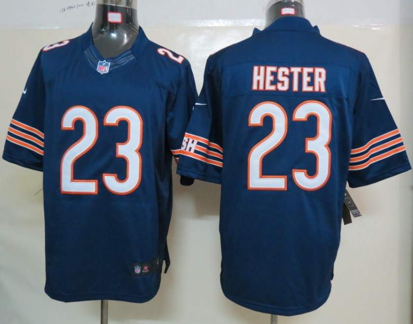 Nike Chicago Bears 23 Hester Blue Limited Jerseys