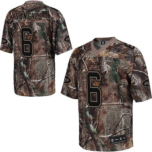 New York Jets 6 Mark Sanchez nike camo jerseys