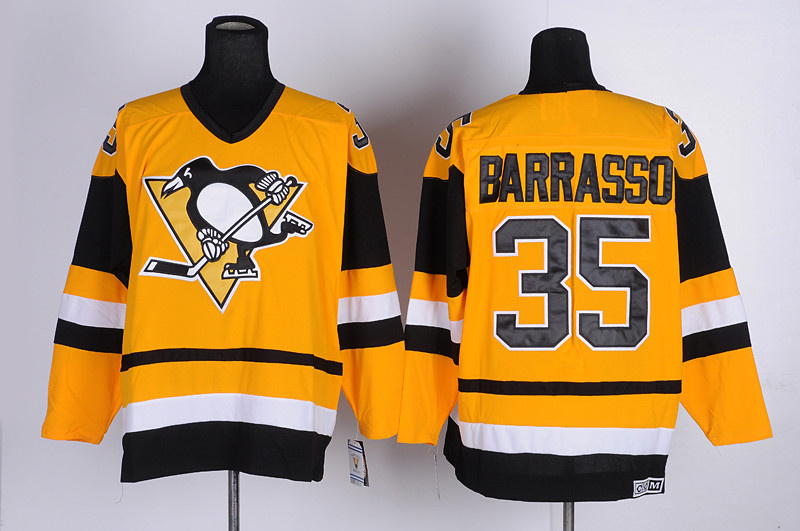 NHL Pittsburgh Penguins 35 Borrasso Yellow CCM Jersey