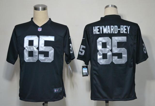 Oakland Raiders 85 Heyward-Bey Black Game nike jerseys
