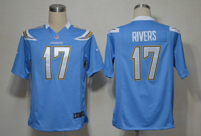 San Diego Chargers 17 Philip Rivers Blue Game nike jerseys
