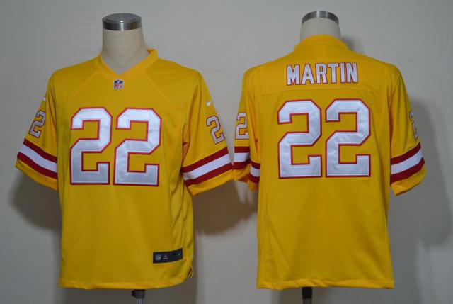 Tampa Bay Buccaneers 22 Doug Martin Yellow Game nike jerseys