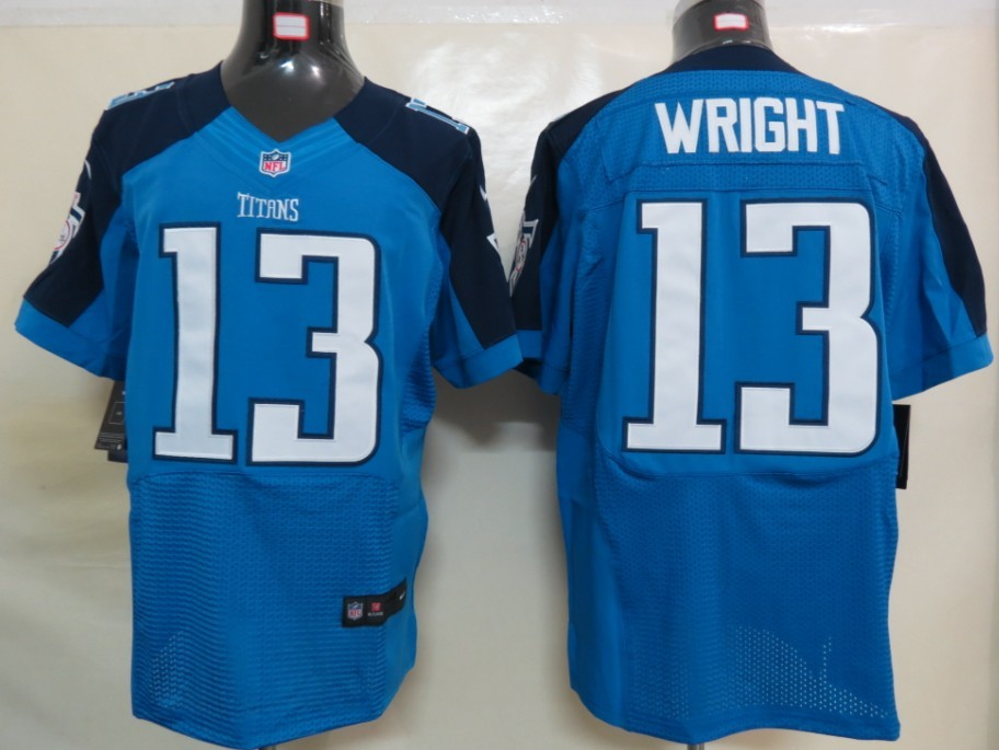 Tennessee Titans 13 Wright Blue Elite nike jerseys