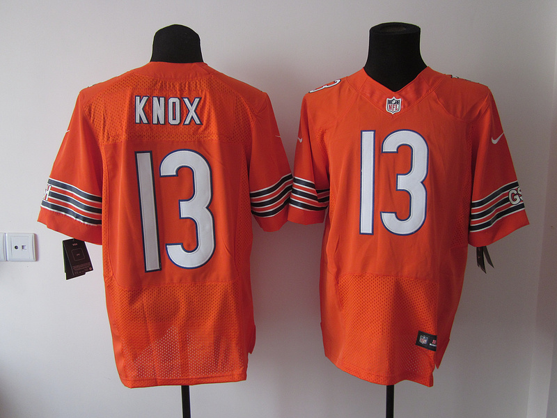 Chicago Bears 13 Johnny Knox Orange Elite nike jerseys
