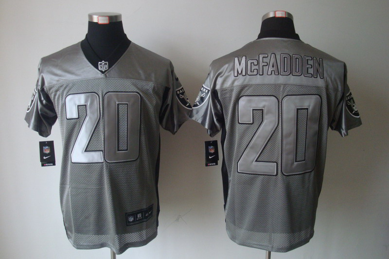 Oakland Raiders 20 Darren McFadden Nike Gray shadow jerseys