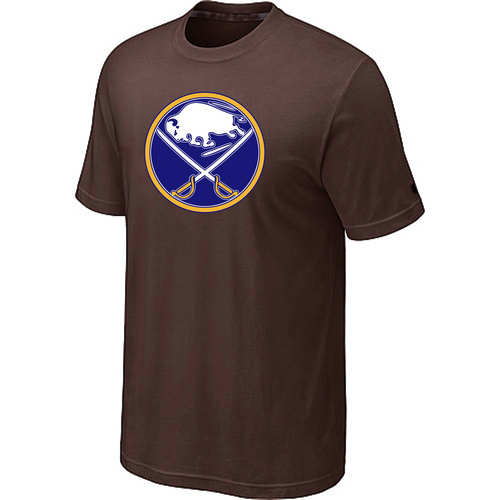 NHL Buffalo Sabres Big Tall Logo Brown T-Shirt
