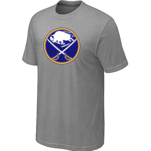 NHL Buffalo Sabres Big Tall Logo L.Grey T-Shirt