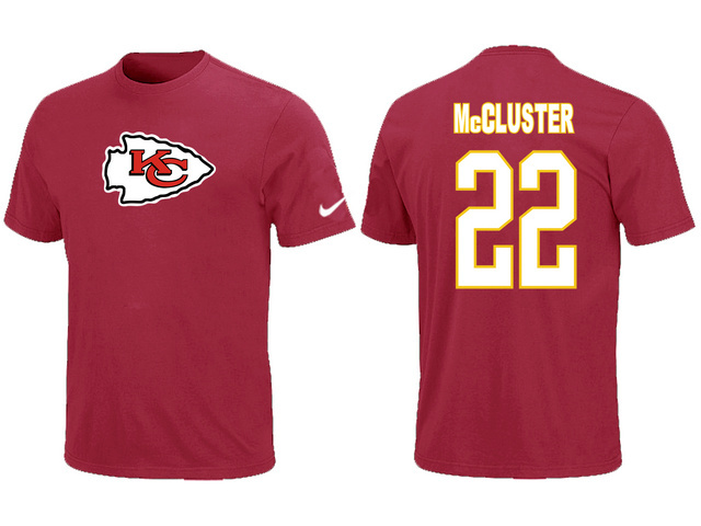 Nike Kansas City Chiefs Dexter McCluster Name Number T-Shirt Red