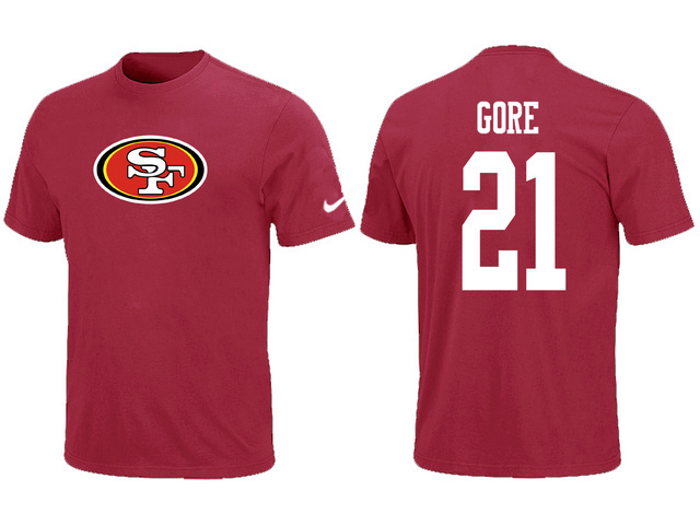 Nike San Francisco 49ers Frank Gore Name Number T-Shirt Red