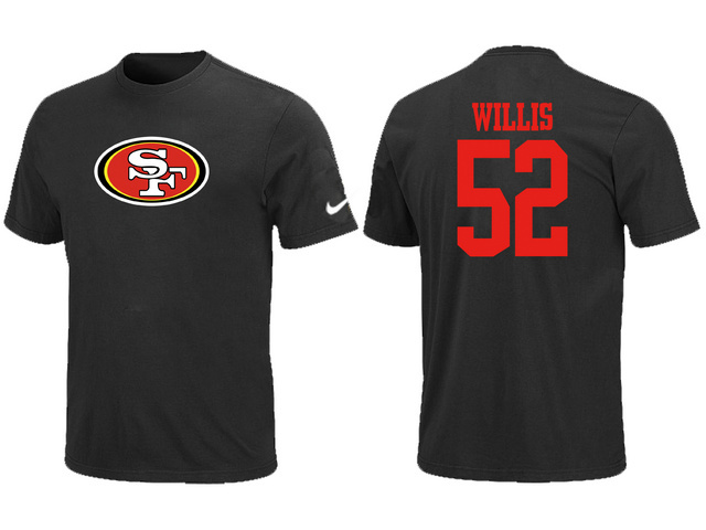 Nike San Francisco 49ers Patrick Willis Name Number T-Shirt BLack
