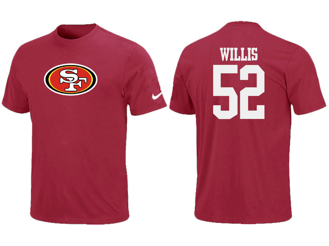 Nike San Francisco 49ers Patrick Willis Name Number T-Shirt Red