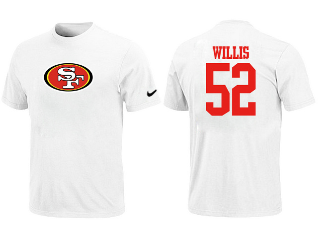 Nike San Francisco 49ers Patrick Willis Name Number T-Shirt White
