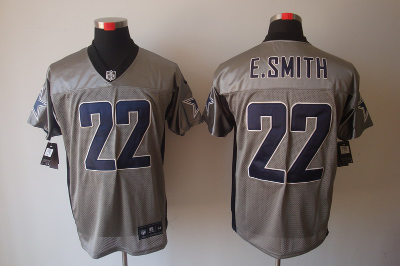 Dallas Cowboys 22 Emmitt Smith Nike Gray shadow jerseys