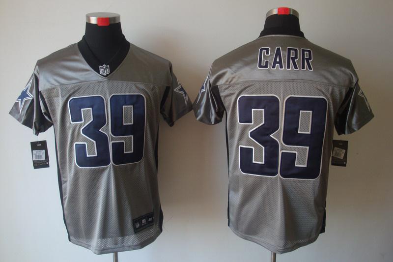 Dallas Cowboys 39 Brandon Carr Nike Gray shadow jerseys