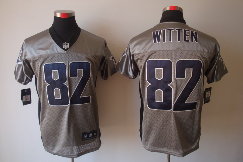 Dallas Cowboys 82 Jason Witten Nike Gray shadow jerseys