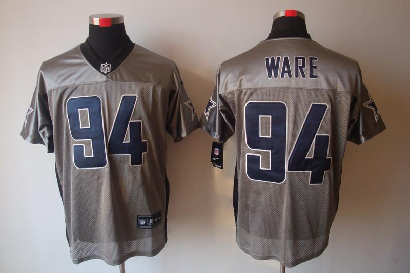Dallas Cowboys 94 DeMarcus Ware Nike Gray shadow jerseys