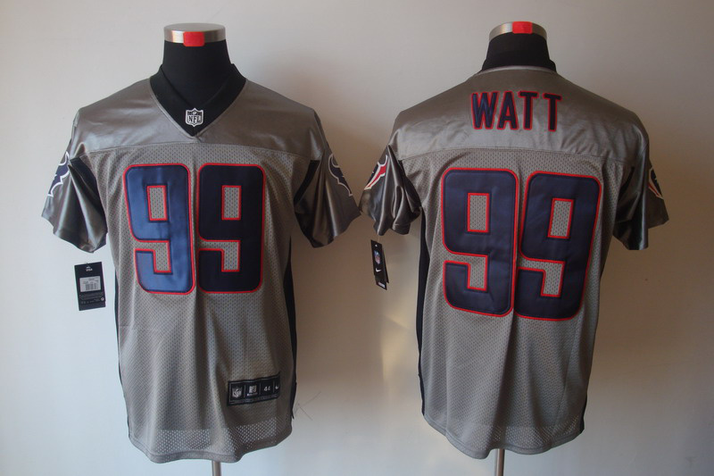 Houston Texans 99 Watt Nike Gray shadow jerseys