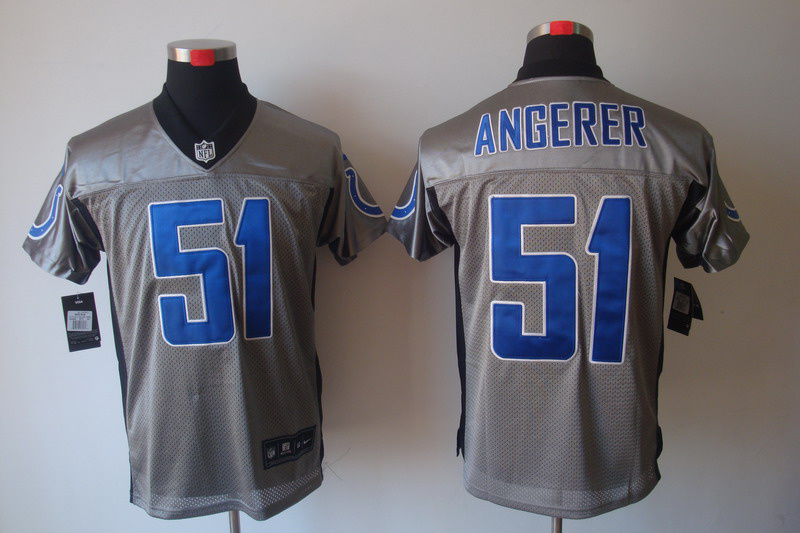 Indianapolis Colts 51 Pat Angerer Nike Gray shadow jerseys