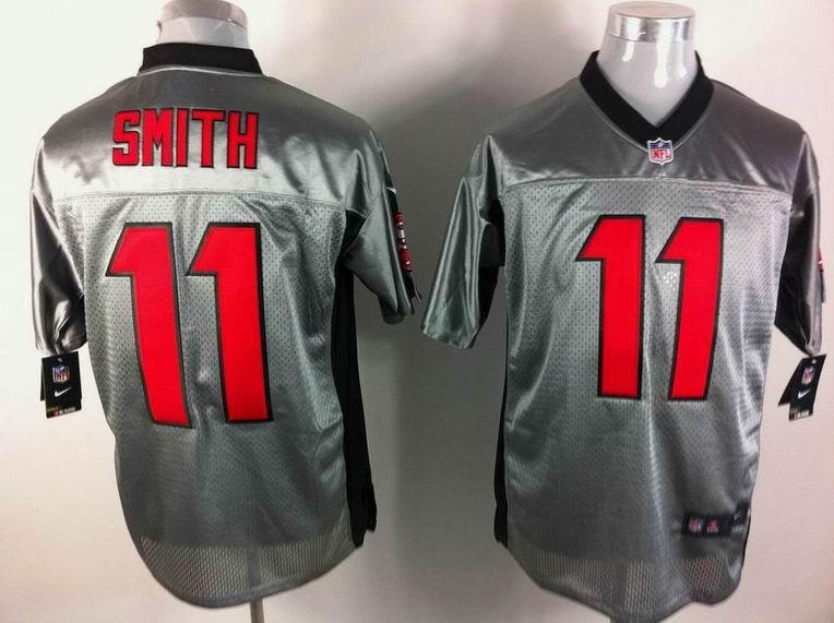 San Francisco 49ers 11 Alex Smith Nike Gray shadow jerseys