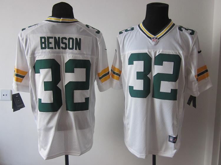 Green Bay Packers 32 Cedric Benson white Elite nike jerseys