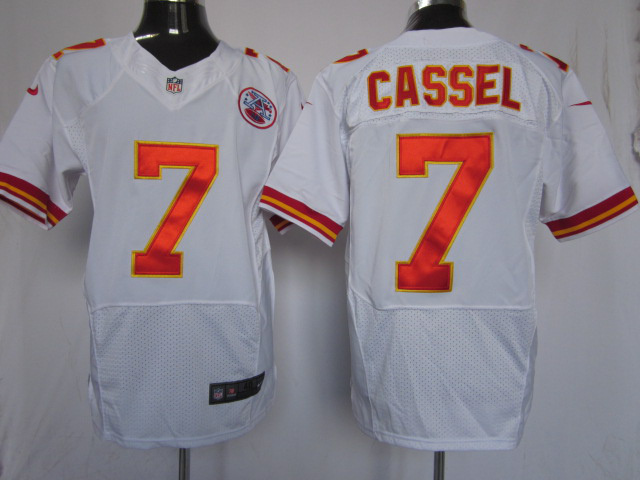 Kansas City Chiefs 7 Matt Cassel White Elite nike jerseys