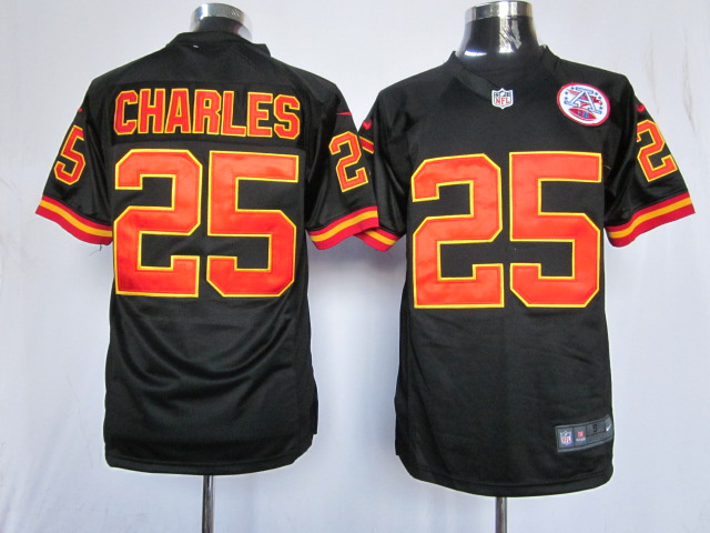 Kansas City Chiefs 25 Charles Black Game nike jerseys