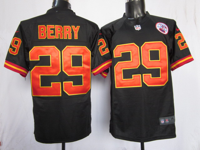 Kansas City Chiefs 29 berry black Game nike jerseys