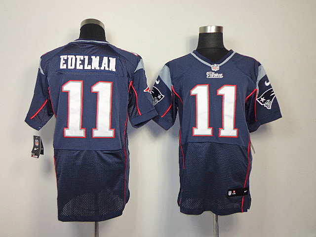 New England Patriots 11 Edelman Blue Elite nike jerseys