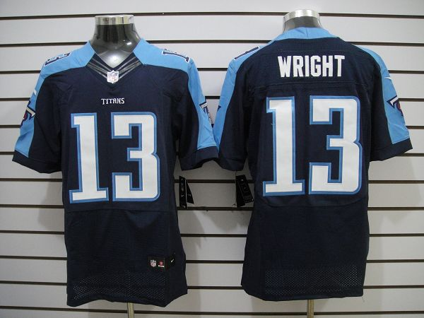 Tennessee Titans 13 Wright Dark Blue Elite nike jerseys