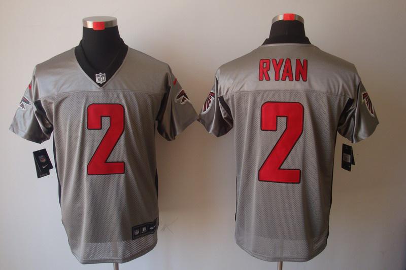 Atlanta Falcons 2 Matt Ryan Nike Gray shadow jerseys