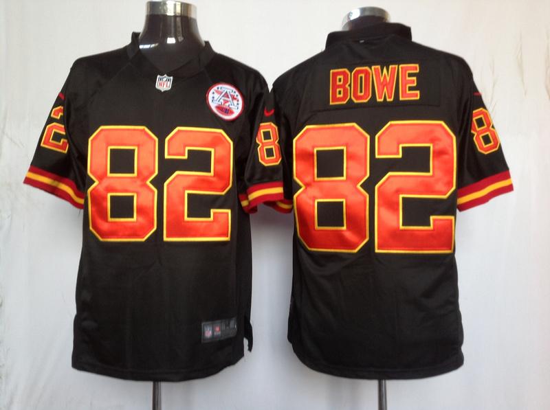 Kansas City Chiefs 82 Bowe Black Game nike jerseys
