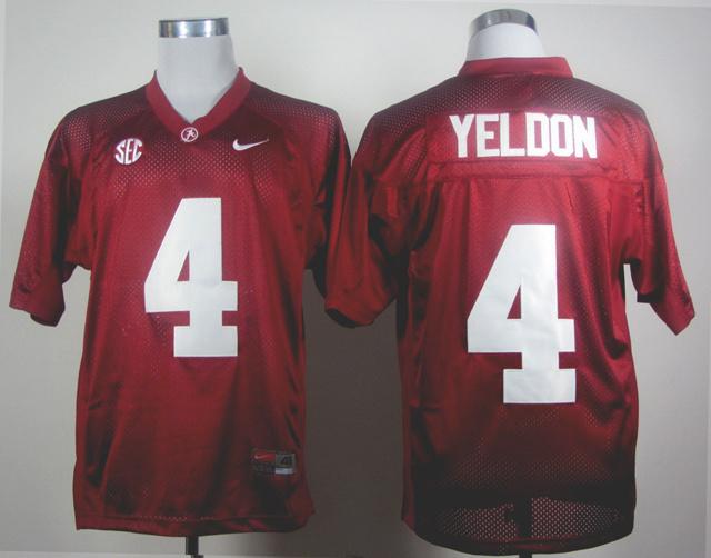 NCAA Alabama Crimson Tide 4 Yeldon red Jerseys