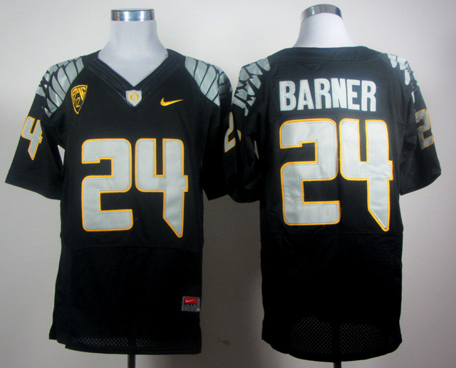 NCAA Oregon Ducks 24 Barner Black Jerseys