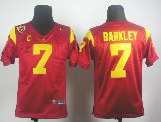 NCAA USC Trojans 7 Matt Barkley Red Jersey