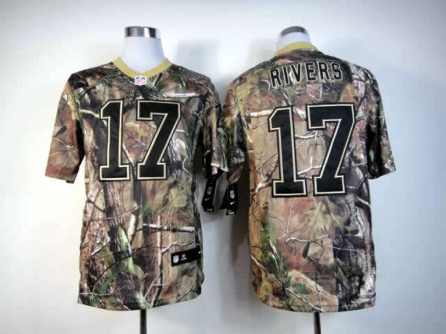 San Diego Chargers 17 Rivers Elite nike camo jerseys