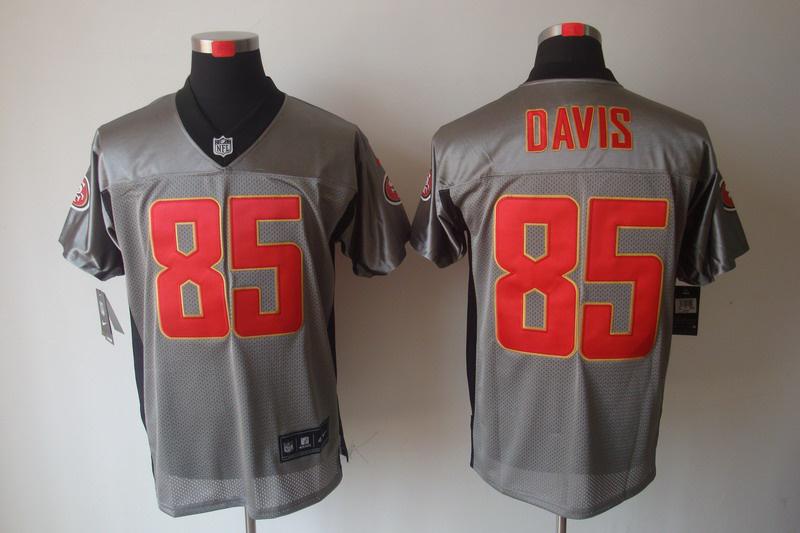 San Francisco 49ers 85 Davis Nike Gray shadow jerseys
