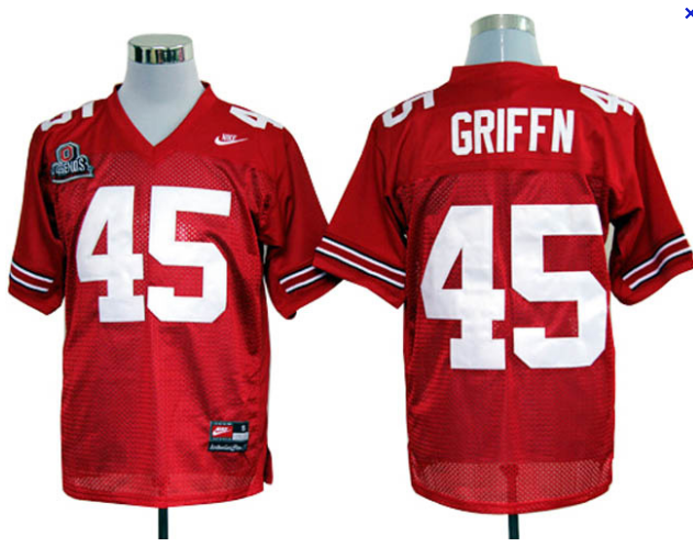 Ohio State Buckeyes Archie Griffin 45 Red College Football Jersey