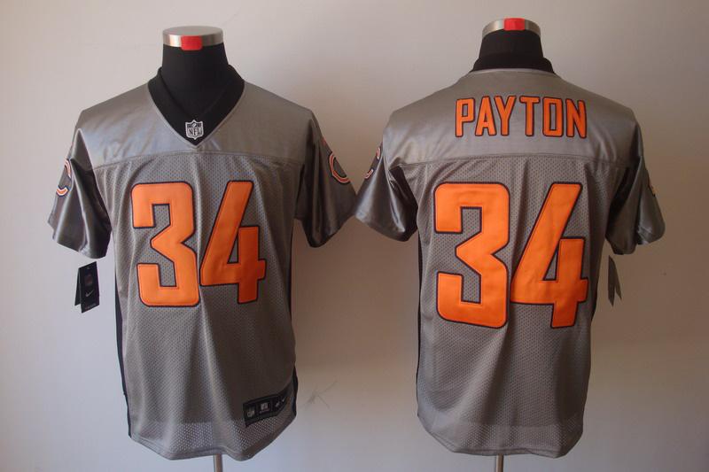 Chicago Bears 34 Payton Nike Gray shadow jerseys