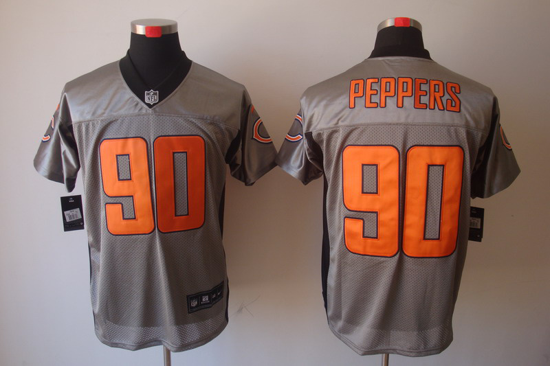 Chicago Bears 90 Peppers Nike Gray shadow jerseys