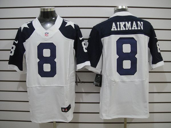 Dallas Cowboys 8 Aikman White Thanksgiving Elite nike jerseys