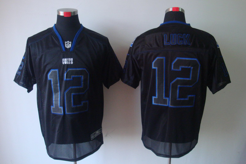 Indianapolis Colts 12 Luck Nike Lights Out Black Elite Jerseys