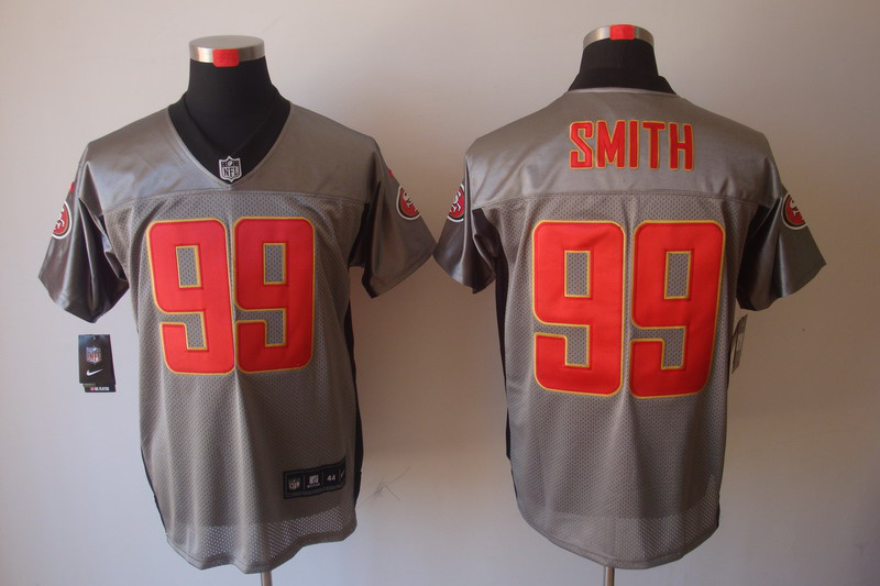 San Francisco 49ers 99 Smith Nike Gray shadow jerseys