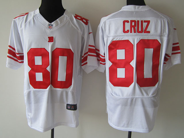 Nike NFL New York Giants #80 Victor Cruz White Elite Jersey