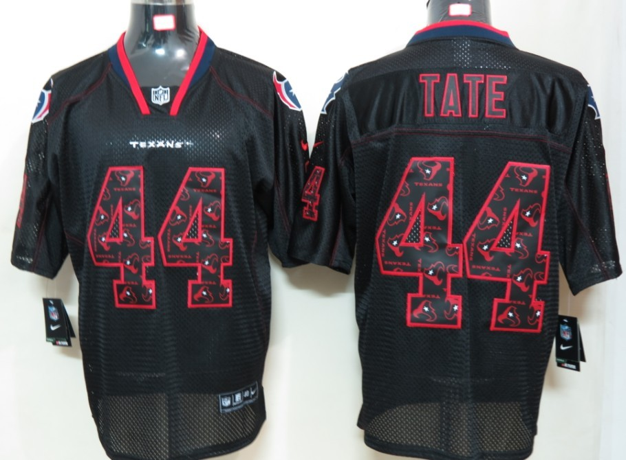 Houston Texans 44 Tate Nike Lights Out Black Elite Jerseys