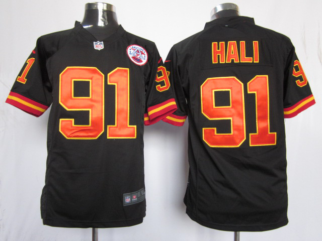 Kansas City Chiefs 91 Hali Black Game nike jerseys