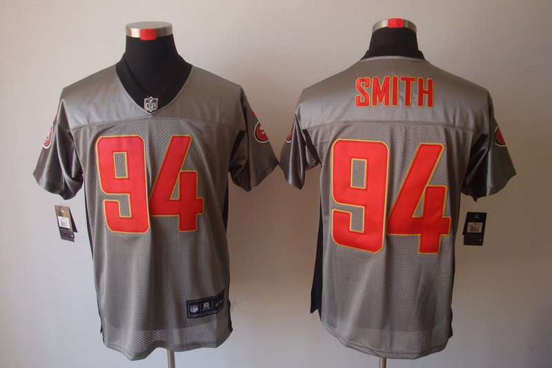 San Francisco 49ers 94 Smith Nike Gray shadow jerseys